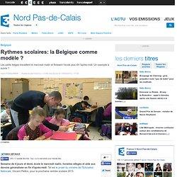 Rythmes scolaires: la Belgique comme modèle ? - Education
