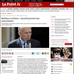 Rythmes scolaires : Ayrault promet une concertation