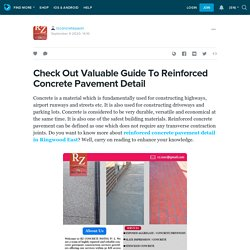 Check Out Valuable Guide To Reinforced Concrete Pavement Detail