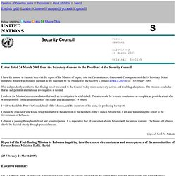 UN Report on Hariri Assassination