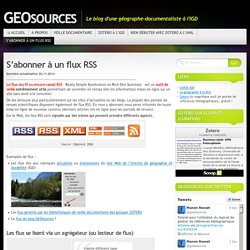 S'abonner à un flux RSS « GEOsources