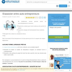 S´associer entre auto-entrepreneurs