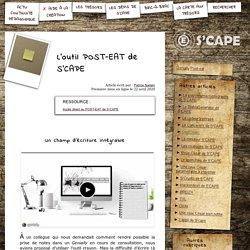 S'CAPE-L'outil POST-EAT de S'CAPE
