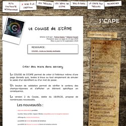 S'CAPE-Le COUISE de S'CAPE