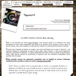 S'CAPE-Un effet machine à écrire dans Genially