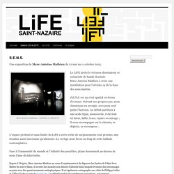 Expo : S.E.N.S. de Marc-Antoine Mathieu à Saint-Nazaire jusqu'au 11/10