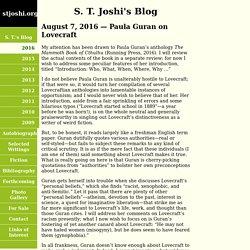 S. T. Joshi - Blog
