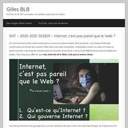 SNT – 2020-2021. S02E01 – Internet, c'est pas pareil que le Web ? – Gilles Boudin – Le Bihan