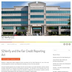 S2Verify and the Fair Credit Reporting Act