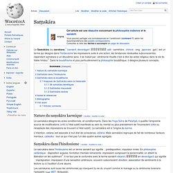Saṃskāra : formations, activités volitionnelles, créatives