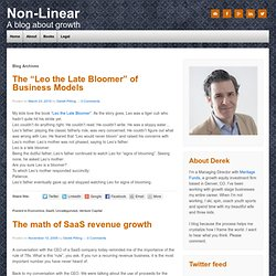 SaaS « Non-Linear Growth