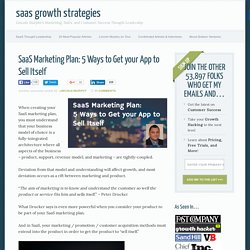 SaaS Marketing Plan: 5 Ways to Get your App to Sell Itself
