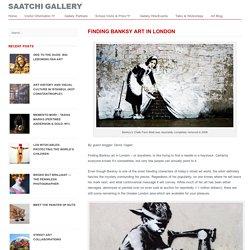 Blog Saatchi Gallery Finding Banksy Art in London » Blog Saatchi Gallery