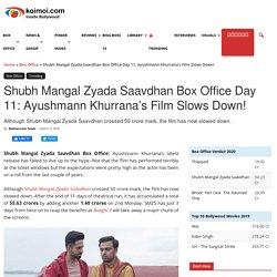 Shubh Mangal Zyada Saavdhan Box Office Day 11: Ayushmann Khurrana's Film Slows Down!