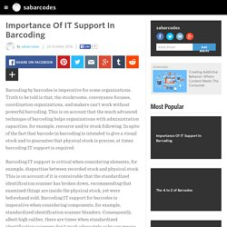 Importance Of IT Support In Barcoding