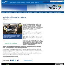 35 injured in taxi accidents:Friday 5 July 2013