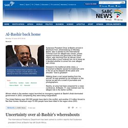 Al-Bashir back home:Monday 15 June 2015