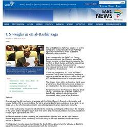 UN weighs in on al-Bashir saga:Monday 15 June 2015