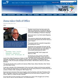 Zuma takes Oath of Office:Saturday 24 May 2014