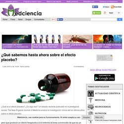 ¿Qué sabemos hasta ahora sobre el efecto placebo?