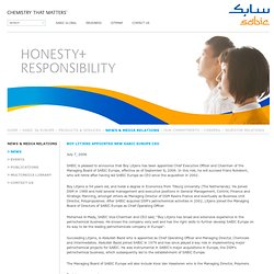 SABIC in Europe - News - Boy Litjens appointed new SABIC Europe CEO