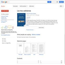 Las tres sabidurías - Marie-Dominique Philippe - Google Books