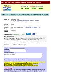 HRS club Cricket Ball ~ sabkifitnesscom Brahmapur Toys Games