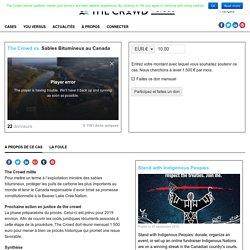 Sables Bitumineux au Canada - The Crowd Versus