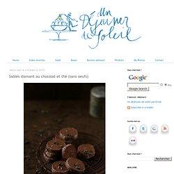 Sablés diamant au chocolat et thé (sans oeufs)