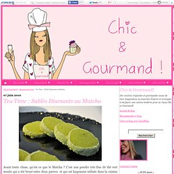 Tea Time : Sablés Diamants au Matcha - Chic & Gourmand!