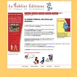 Le Sablier Editions - le temps de l'enfance : Accueil
