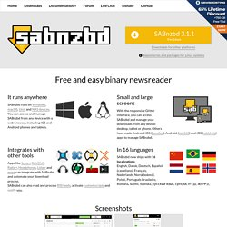 SABnzbd.org : Home of SABnzbd+, the Full-Auto Newsreader