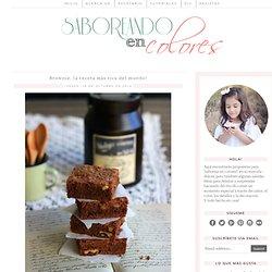 SABOREANDO EN COLORES: Brownie, la receta más rica del mundo!