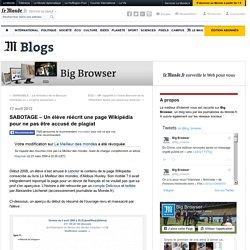 SABOTAGE – Un élève réécrit une page Wikipédia pour ne pas être accusé de plagiat