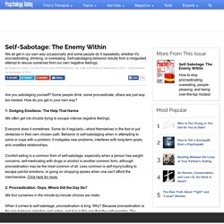 Self-Sabotage: The Enemy Within