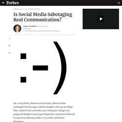 Is Social Media Sabotaging Real Communication?