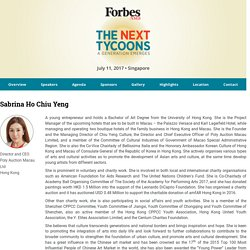 Forbes Asia Forum: The Next Tycoons