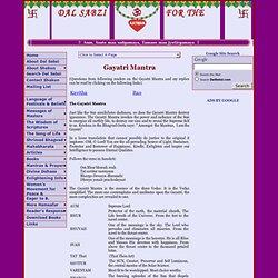Dal Sabzi for Aatman: Gayatri Mantra