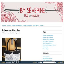 tuto du sac Claudine - Byseverine