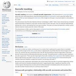 Saccadic masking