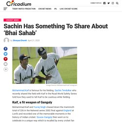 Sachin Has Something To Share About 'Bhai Sahab'