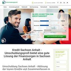 Kredit in Sachsen Anhalt von Umschuldungsprofi UG