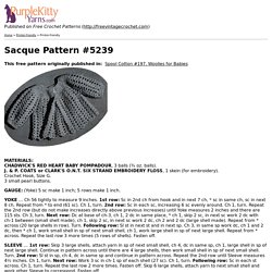 Sacque Pattern #5239