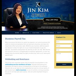 Sacramento Employment Tax Attorney