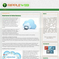 Ripple Web: Cloud Server for Online Business