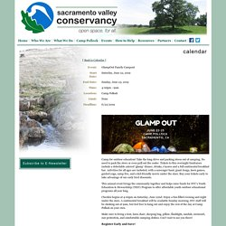 June 22 Glamp out - Sacramento Valley Conservancy