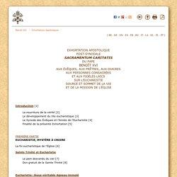 Exhortation apostalique sur l'Eucharistie (2007) {Benoît XVI}