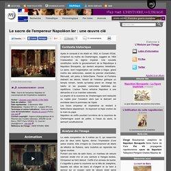 Le sacre de l'empereur Napoléon Ier : une œuvre clé