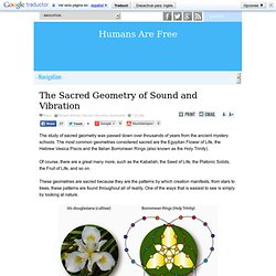 The Sacred Geometry of Sound and Vibration