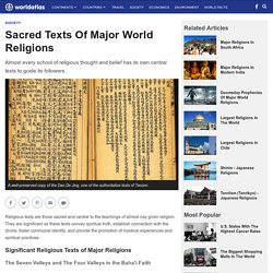 Sacred Texts Of Major World Religions - WorldAtlas.com